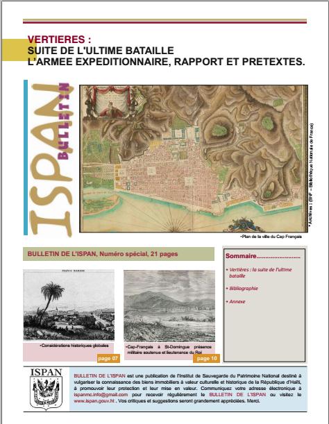vertières : suite de l'ultime bataillel'armée expéditionnaire, rapport et prétextes